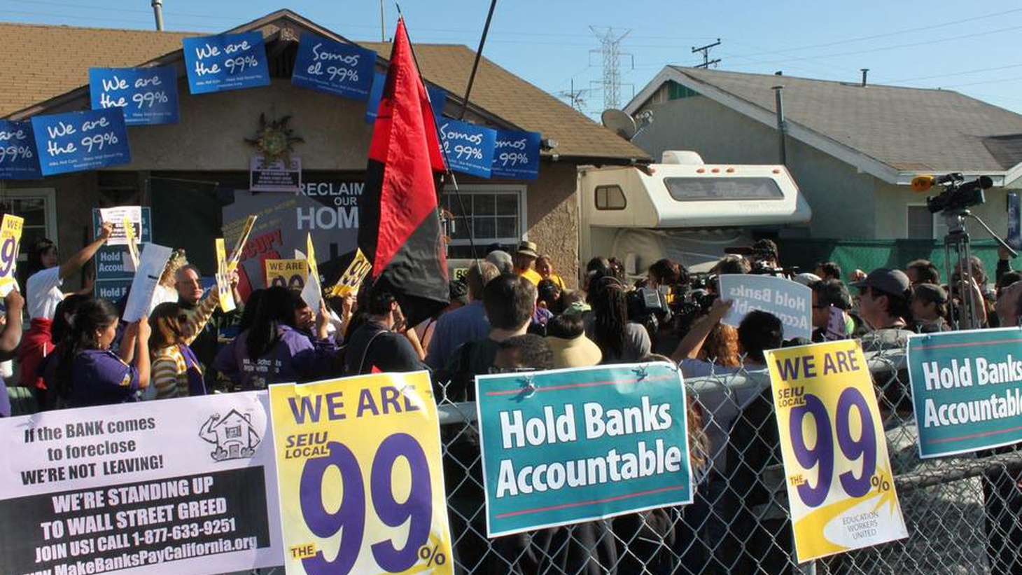"The ""Occupy"" movement is trying to help evicted families get back into their foreclosed homes. We hear about civil disobedience, property rights and economic inequality."
