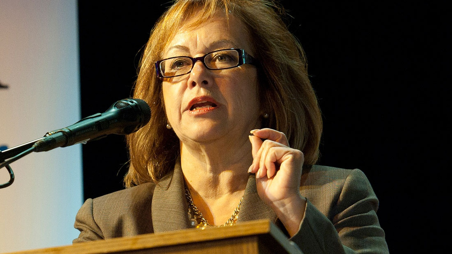 "Maria Elena Durazo has been President of the LA County Federation of Labor since 2005. The daughter of Mexican immigrants, she now leads more than 600,000 union members here in LA. The  LA Times says  she's helped make Labor ""possibly the greatest single power in [the city's] electoral politics."""
