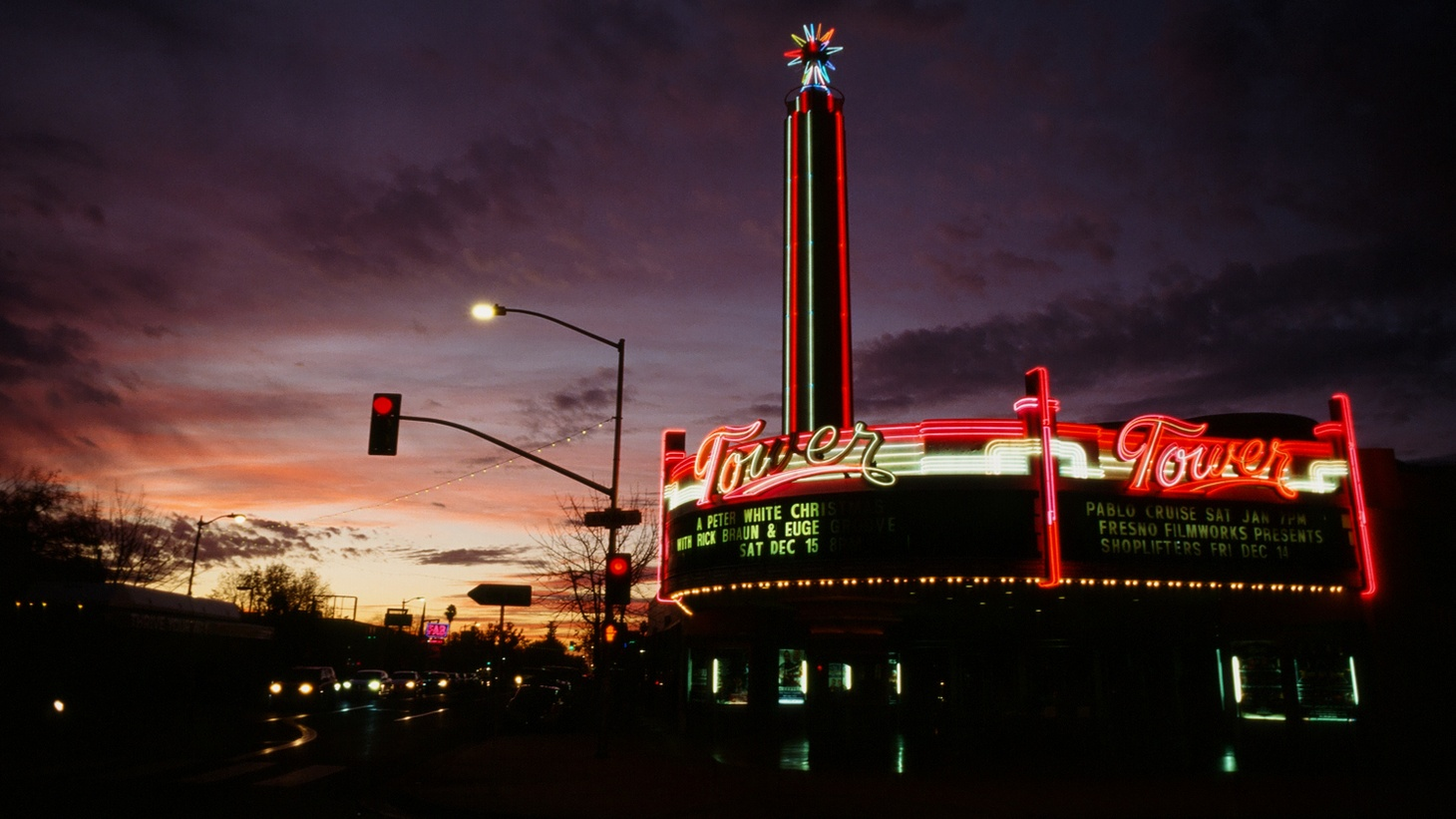 """Columnist Joe Matthews writes that historic theaters, like the Tower in Fresno, can be saved in the Netflix era if they're allowed to be used and managed by churches. """"The Tower is a 1939 Streamline Moderne gem anchoring an artsy neighborhood of Fresno. But like so many of California's signature old theaters, it can't support itself,"""" Mathews says."""
