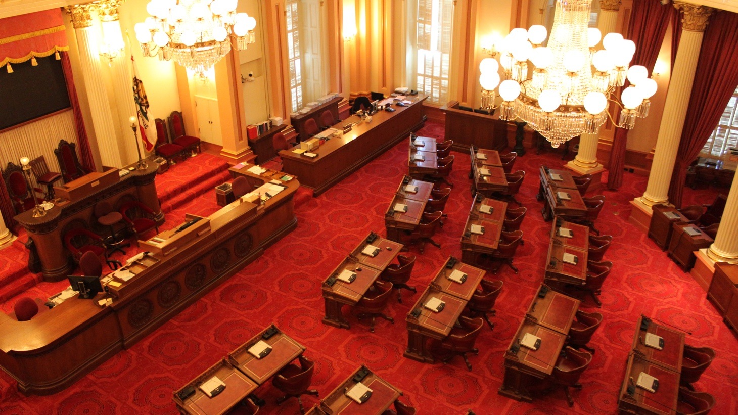 Senate Chamber at the California State Capitol