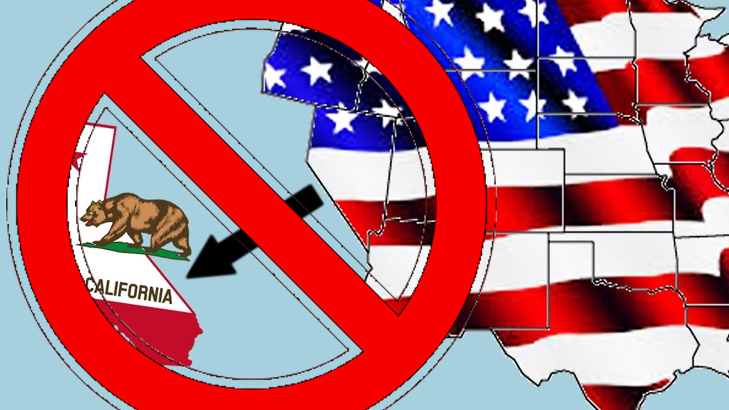 """Synthesized artwork image showing a """"cross-out"""" of a Calexit illustration."""